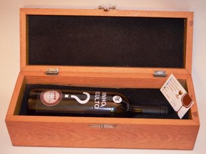 VINHO OCULTO SELO 7 S caixa de madeira